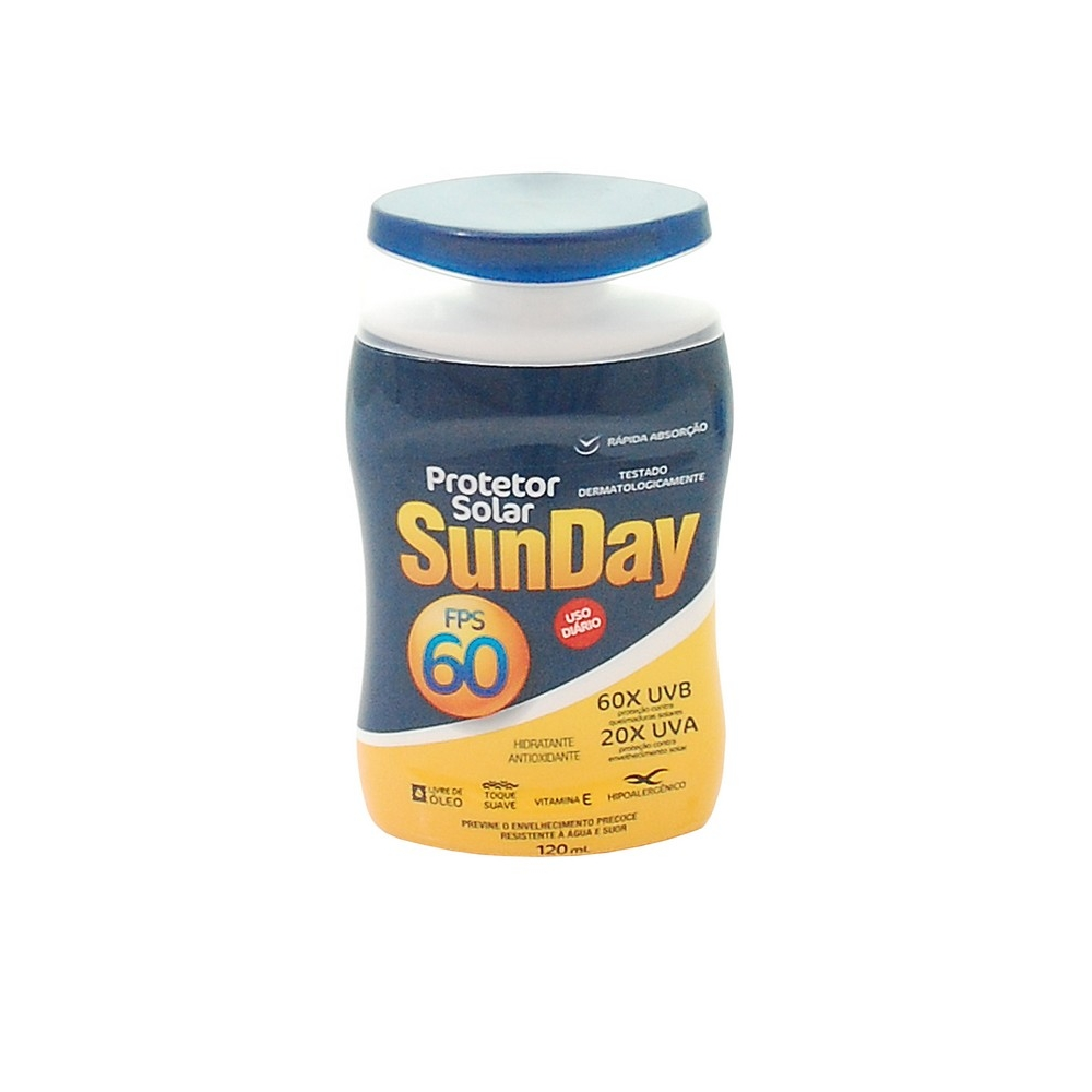 Protetor Solar Sunday FPS 60 Nutriex 120 ML